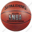 "Мяч баскетбольный ""SPALDING"" NBA Silver Indoor/Outdoor р.7 ПУ"